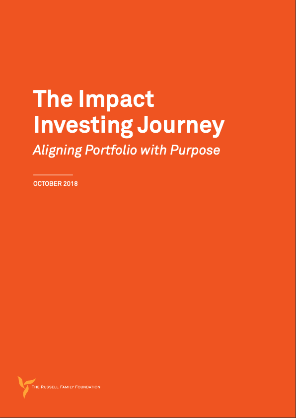 TRFF Releases Report on Impact Investing Outlining 4-Year Journey from 7% to Almost 75% Mission-Aligned Investments cover image